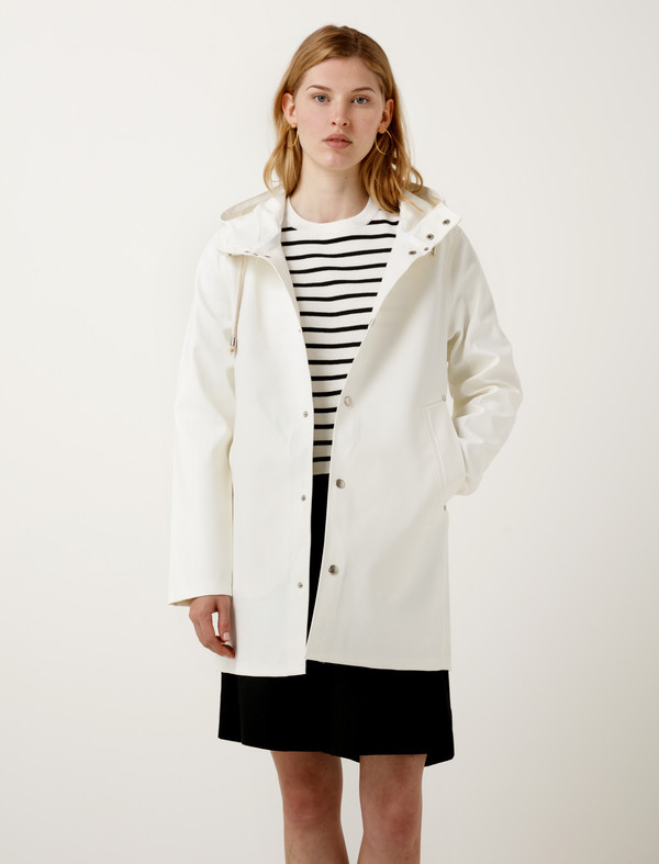 Stutterheim Mens Stockholm Raincoat - White