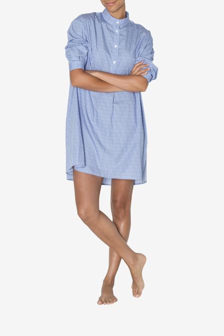 The Sleep Shirt Short Sleep Shirt Tiny Blue Floral