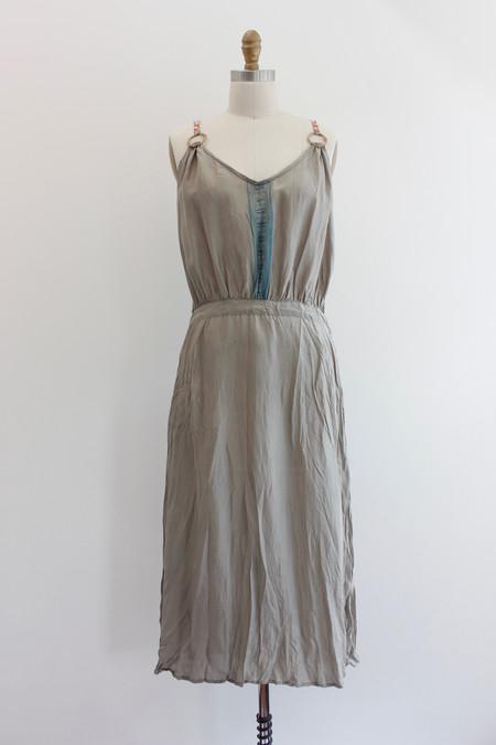 Hazel Brown Silk dress with Hemp circles