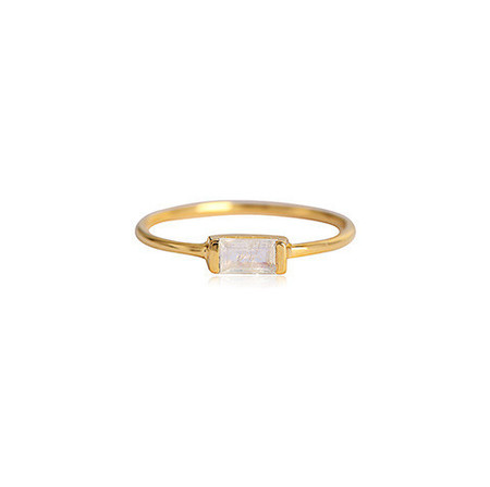 LEAH ALEXANDRA CHANNEL RING IN GOLD