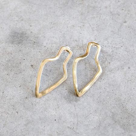 Ariana Boussard-Reifel Tanami Earrings in Brass