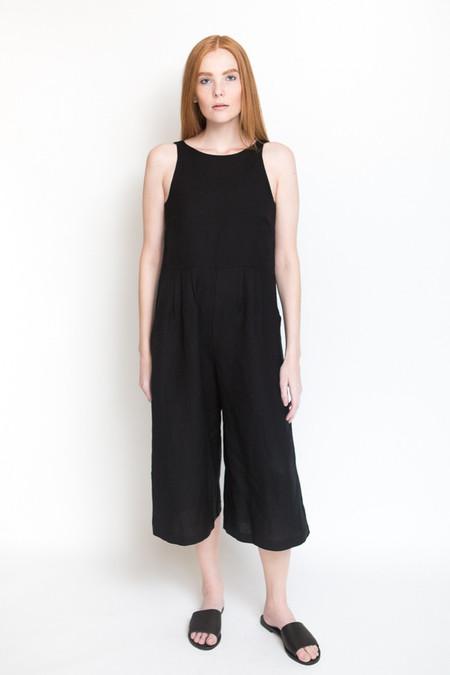 First Rite Crop Pantsuit / Black