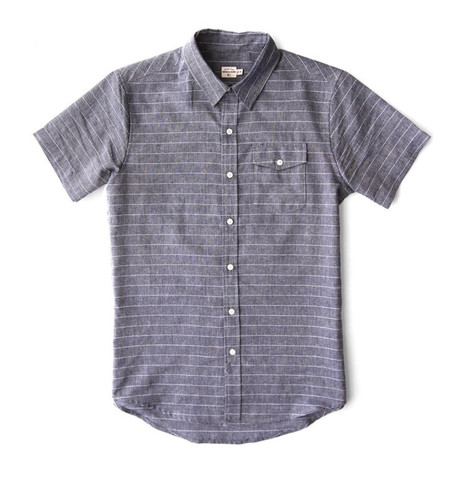 Bridge & Burn Thomas Chambray Pinstripe Shirt
