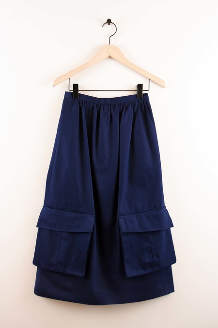 A DÉTACHER SERENA SKIRT NAVY