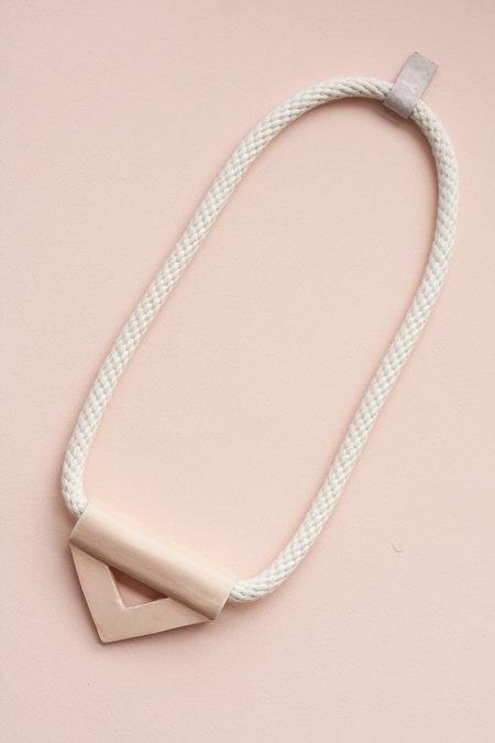YYY Peach Triangle Necklace