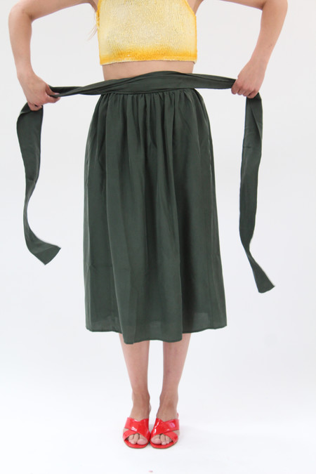 Apiece Apart Elisa Wrap Skirt Valley Green