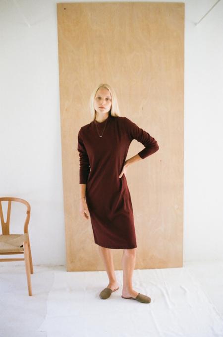 Han Starnes Jersey Dress - Burgundy