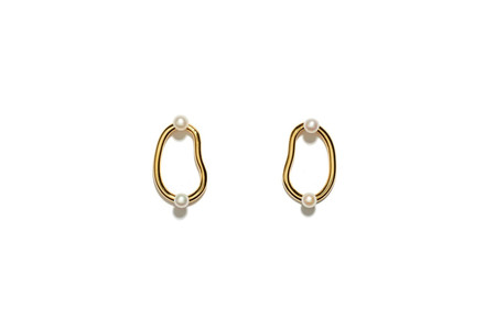 Lizzie Fortunato Twin Pearl Hoops