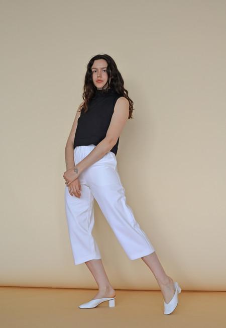 Wolcott : Takemoto Denim Nadine Pant in White