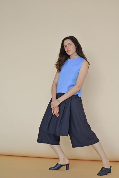 Wolcott : Takemoto Rayon Jane Skirt-Pant in Navy
