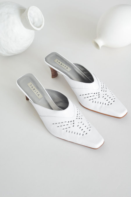 Either, And Vintage White Cut-Out Mule