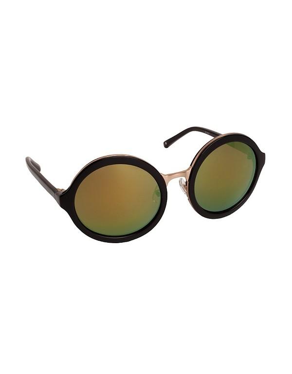 Linda Farrow x Phillip Lim 3.1 II Perfectly Round Sunglasses in Black & Gold