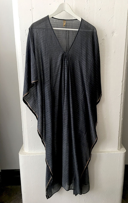 Two Charcoal striped caftan