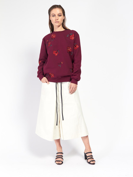 Pari Desai Rose Embroidered Sweatshirt
