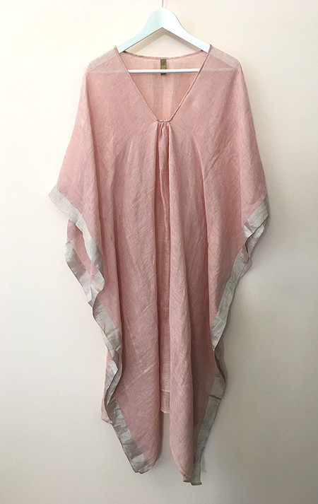 Two Pale Rose Linen caftan
