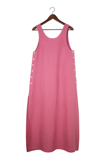 Ilana Kohn Jayna Dress, Rose, Washed Linen