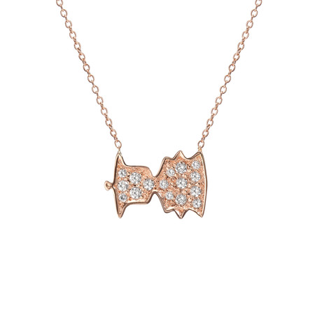 "Shahla Karimi 14K Gold Sounds Necklace No. 4 - ""Bonjour, Paris!"" - Audrey Hepburn"