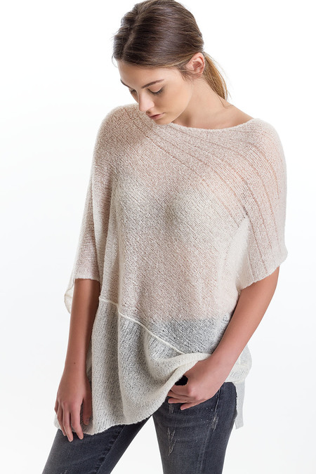 Paychi Guh Cashmere Panel Cover Up