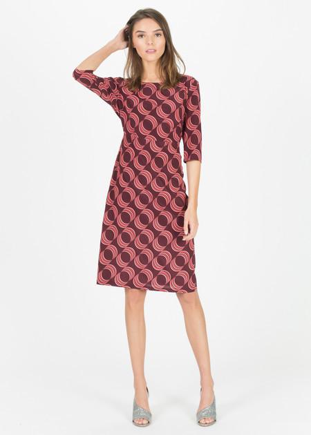 Laura Urbinati 3/4 Sleeve Silk Dress