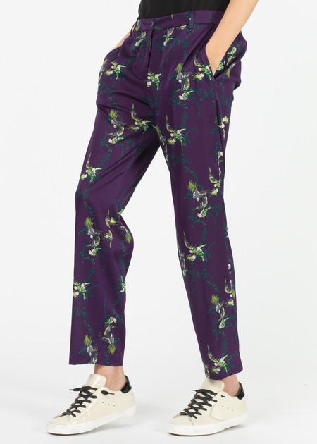 Laura Urbinati Straight Leg Silk Trouser