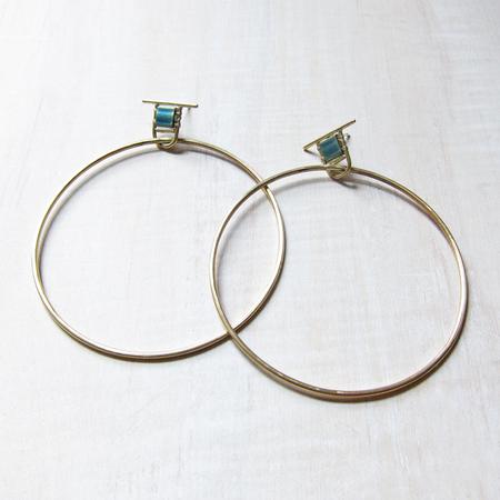 Alchemilla Hold hoops - aqua
