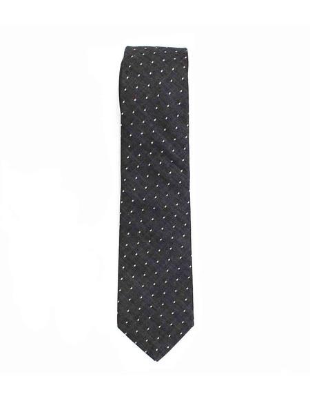 Cursor and Thread Henry Neck Tie Black