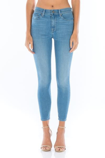 Fidelity Denim Gwen Hi-Rise Skinny Crop in Lover's Blue