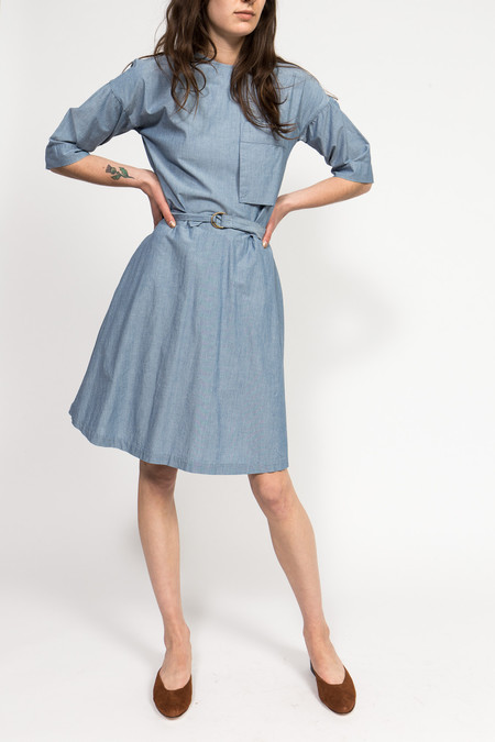Maison Kitsune Jade Chambray Dress
