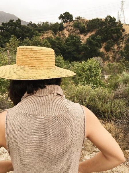 le Market Vintage Straw Boater Hat