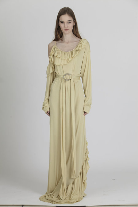 Urbanovitch Belted Butter Gown