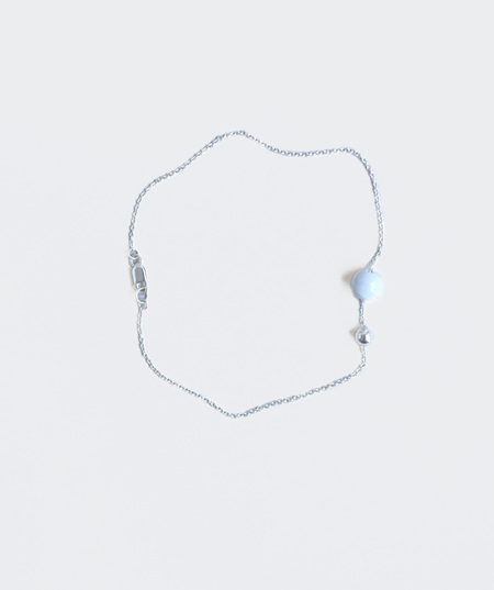 Collina Strada Sterling Silver Anklet with Marble Bead