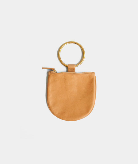 clutches from indie boutiques garmentory otaat myers collective small ring pouch camel