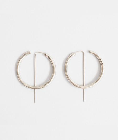 Jaclyn Moran Hoop & Post Earrings - Sterling Silver
