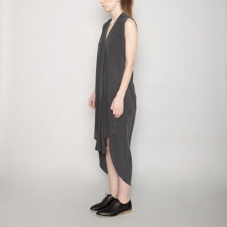 7115 by Szeki Signature Origami Silk Dress-Stone Gray