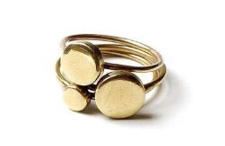 Winifred Grace Set of 3 Stackable Disc Rings