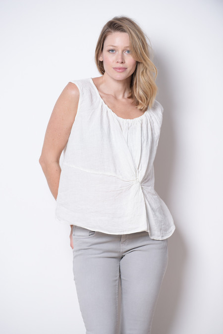 Manuelle Guibal Twist Linen Top
