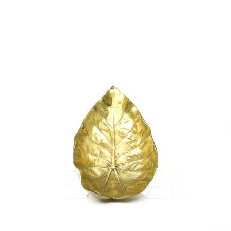 Rider For Life Vintage Brass Begonia Leaf