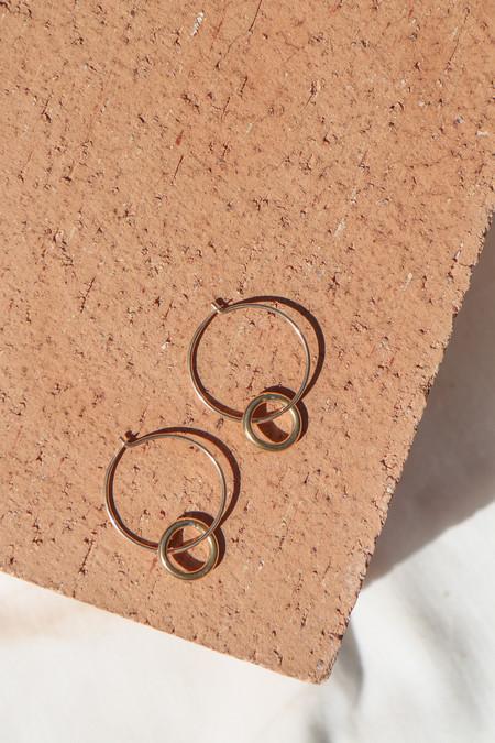 Rock Salt Vintage Hoop Link Earrings