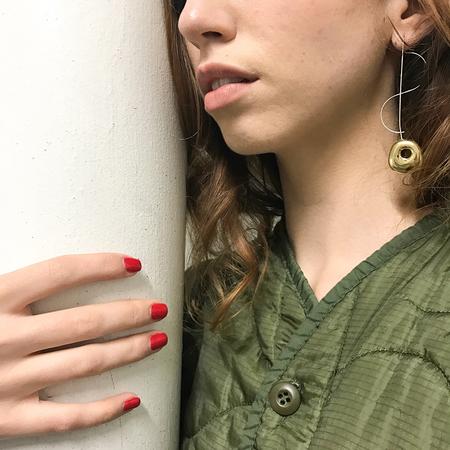 Leigh Miller 2 Tone Hepworth Drop Earrings