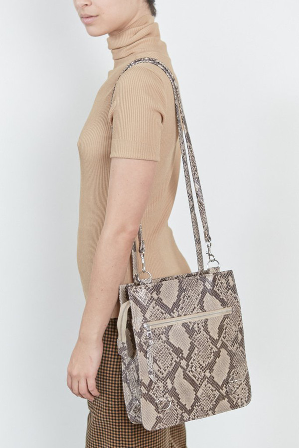 Clyde Leather Best Bag - Python