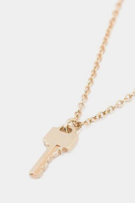 Lauren Klassen Tiny Key Necklace - Gold