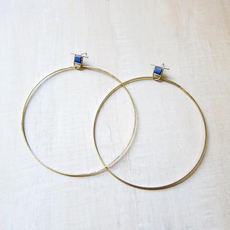 Alchemilla Hold large hoops - lapis