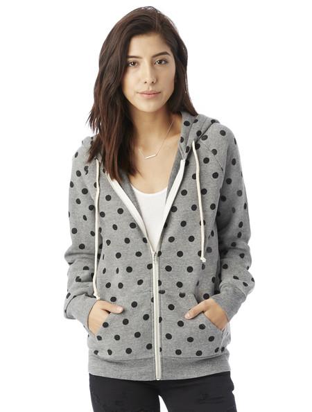 Alternative Apparel Adrian Eco-Fleece Hoodie in Dots