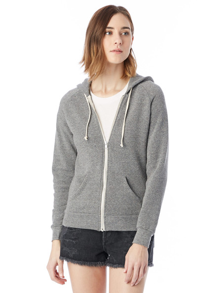 Alternative Apparel Adrian Eco-Fleece Hoodie in Grey