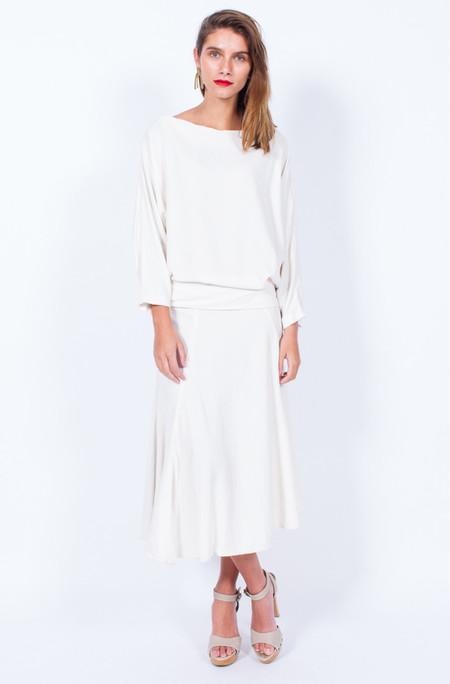 Yo Vintage! STUNNING WHITE DRESS - MEDIUM