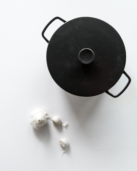 Crane Cookware Enameled Cast Iron Casserole - Black