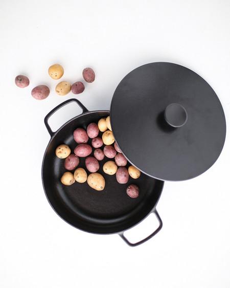 Crane Cookware Enameled Cast Iron Saute Pan - Black