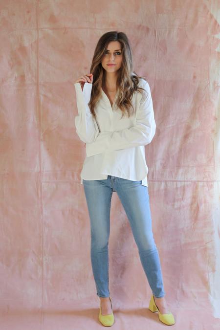Achro Open Collard Shirt in White