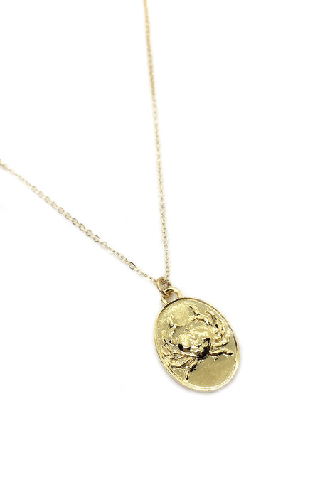 Talon Gold Cancer Necklace