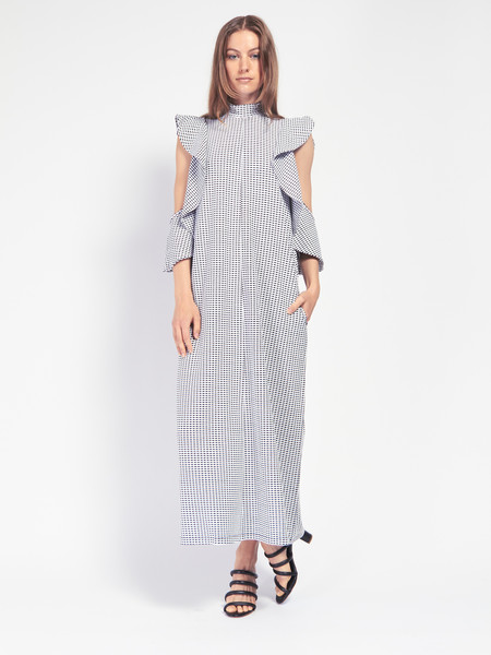 Rodebjer Girona Dress - Black & White